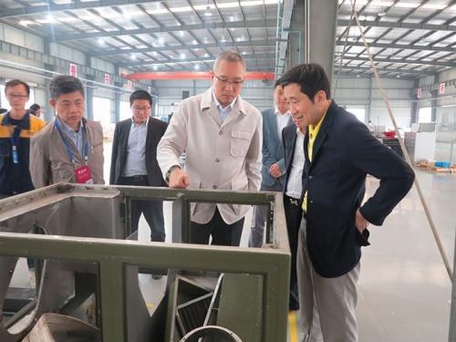 广西玉柴机器集团有限公司董事局主席晏平一行访问集团公司